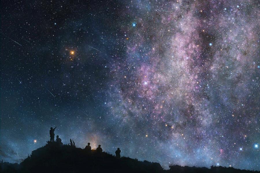 射手座満月の夜空